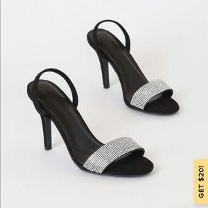 Lulus rhinestones black heels